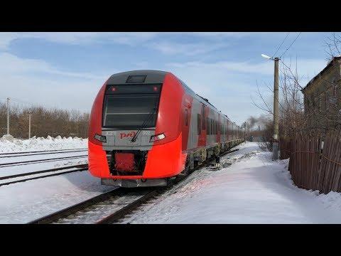 Сцепка ТЭП70БС-177 + ЭС2ГП-002 «Ласточка» отправляется из Шуи в Иваново