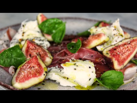 Italian Figs, Mozzarella And Parma Ham - Simple Appetizers For Two - Easy Italian Appetizer Recipes