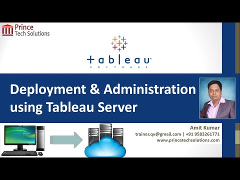 Tableau Training | Server Deployment and Administration with Tableau Online