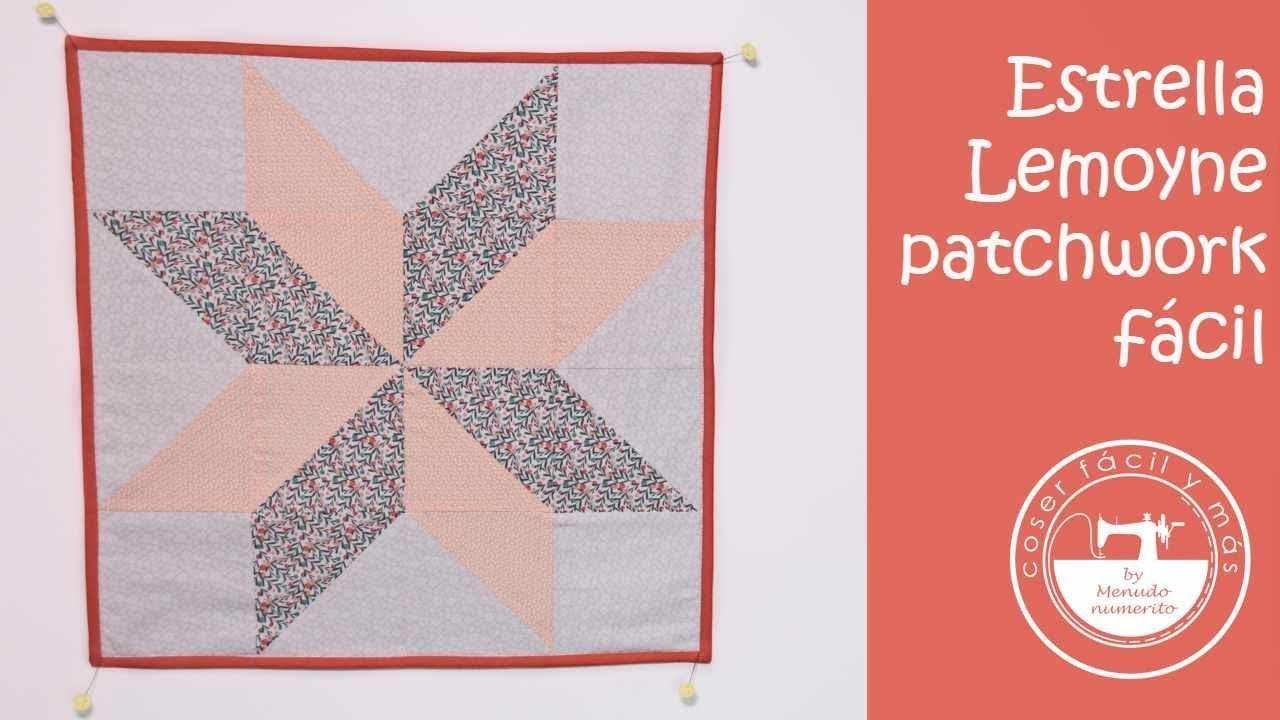 Patrones Para Cojines Patchwork.Patchwork Facil Estrella De Lemoyne Con Patrones