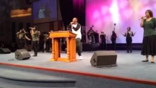 Jonathan Nelson leading worship