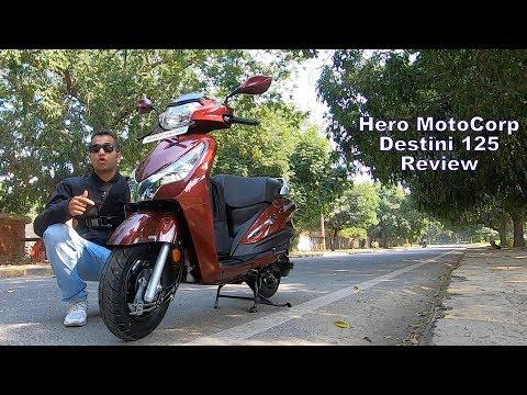 2018 Hero MotoCorp Destini 125 Scooter Review (Hindi + English)