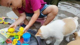 Trò Chơi Bé Vui Nặn Playdoh ❤ ChiChi ToysReview TV ❤ Đồ Chơi Trẻ Em Baby Doli Bài Hát Vần Thơ