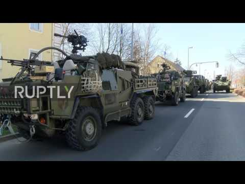 Germany: US-led NATO troops leave for Poland deployment