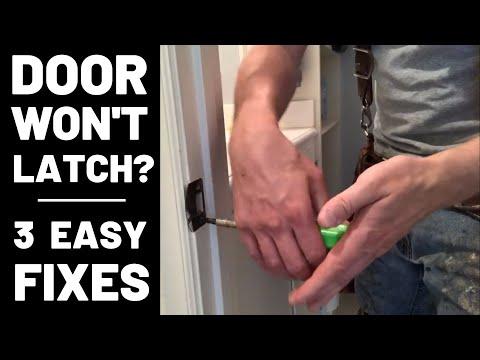 Door Won't Latch—3 Easy Fixes!
