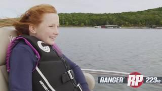 Ranger RP223FC Reata Pontoon On-Water Footage