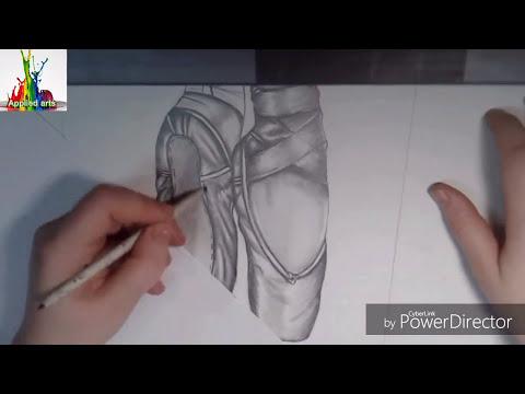 اسهل طريقه لرسم حذاء باليرينا لمحبين الرسم  HOW TO DRAW A BALLERINA SHOES?