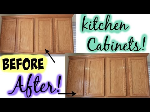 How to clean Kitchen cabinets! - Mamiposa26