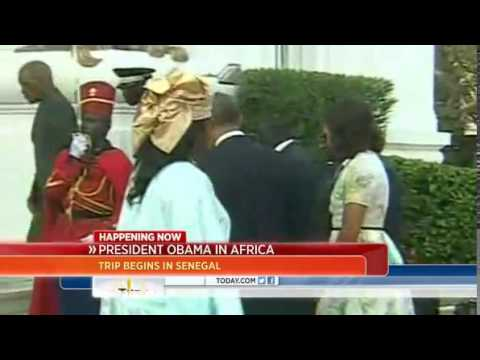Obama begins Africa trip in Senegal 27 06 2013