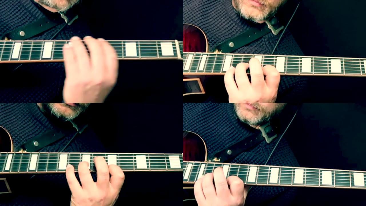 Nigel Price - 4 part harmony on an arpeggio exercise. Instant Johnny Smith harmony!