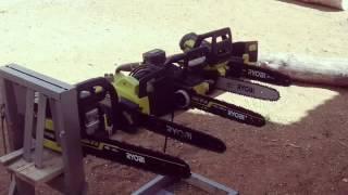 Ryobi brushless chainsaws