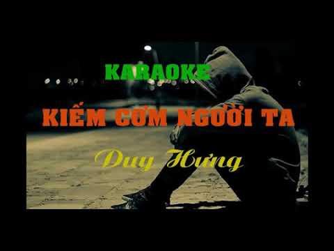 Karaoke Kiếm cơm người ta ( Karaoke beat chuẩn) /Duy Hưng _Tuấn Trần official / ( Duyên phận chế)