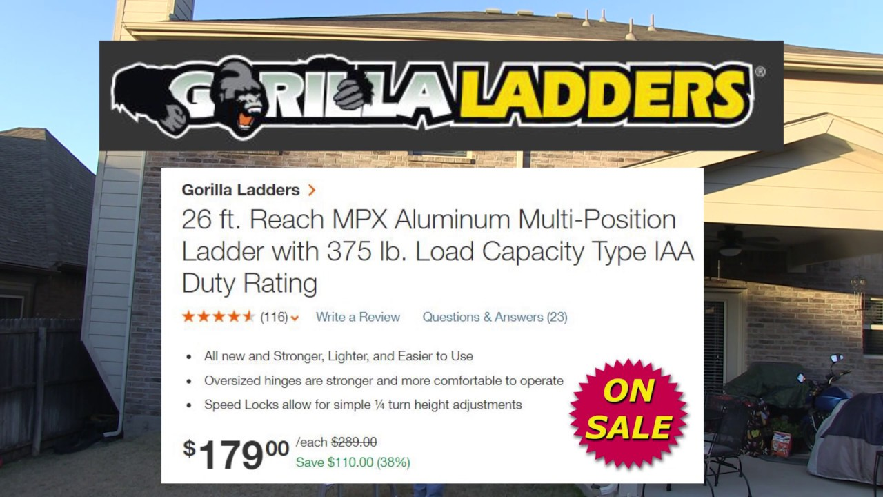 26' Gorilla Ladder Review MPX 26
