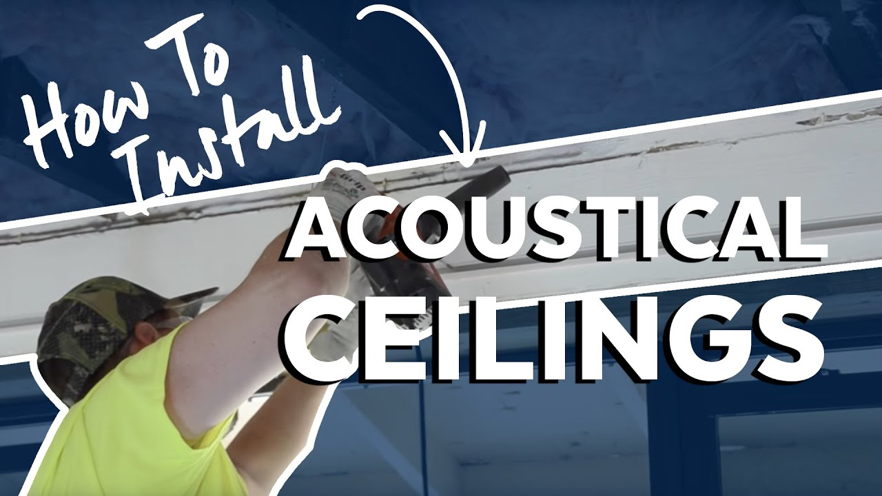 Fast  Easy Acoustical Ceiling Installation by Armstrong  YouTube