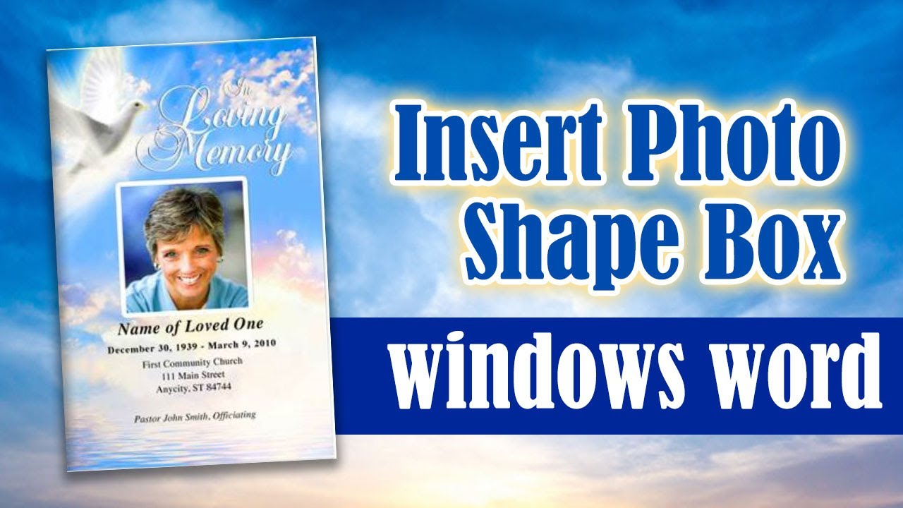 insert photo into shape box frame