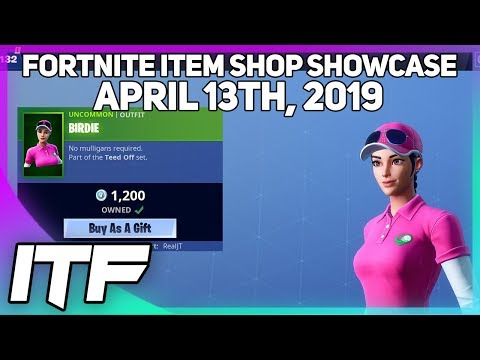 Fortnite Item Shop *NEW* BIRDIE SKIN AND DRIVER PICKAXE! [April 13th, 2019] (Fortnite Battle Royale)