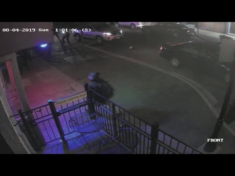 Surveillance video shows police take down alleged Dayton shooter