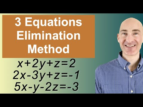 Solving Systems of 3 Equations Elimination