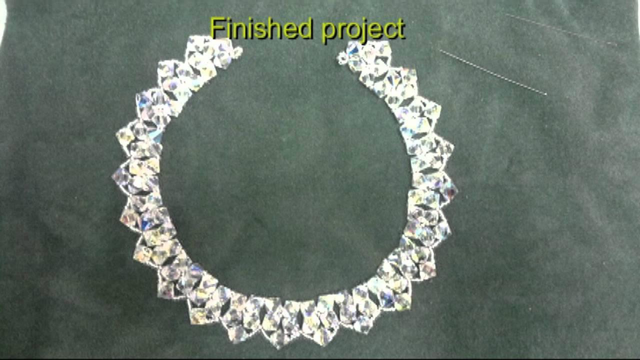 Beading4perfectionists 8mm Swarovski Beaded Necklace