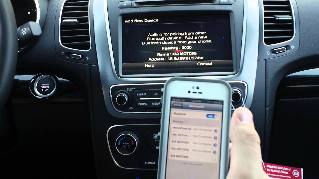 Kia Soul: Pairing through PHONE Setup