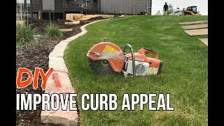 How To Install Stone Landscape Edging & Why | Improve Curb Appeal