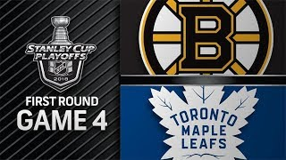 NHL 18 PS4. 2018 STANLEY CUP PLAYOFFS FIRST ROUND GAME 4 EAST: BRUINS VS MAPLE LEAFS. 04.19.2018 !