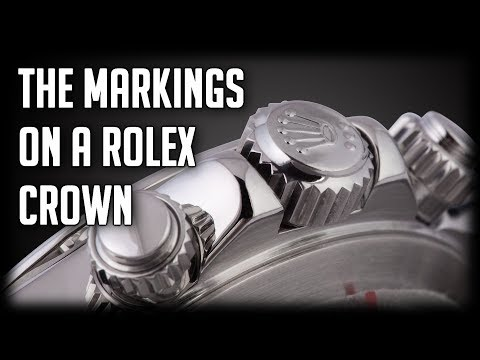 Markings On A Rolex Crown; What Do They Mean?