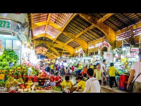 Bến Thành Market Shopping in Ho Chi Minh Vietnam