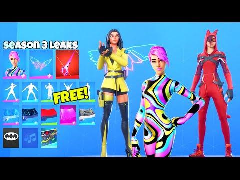*NEW* Skins & Emotes LEAKED..! (SEASON 3, Lynx V2, Butterfly) Fortnite Battle Royale