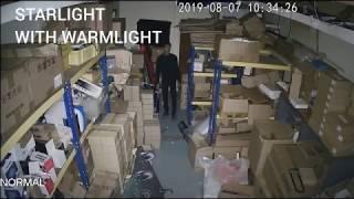 Starlight with Warm Light vs Normal IR vs Starlight Camera
