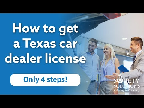 How to get a Texas Car Dealer License