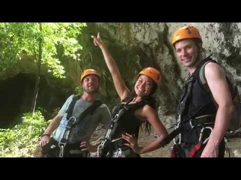 Hollow Mountain Extreme Adventure Park, Ao Nang, Krabi, Thailand.
