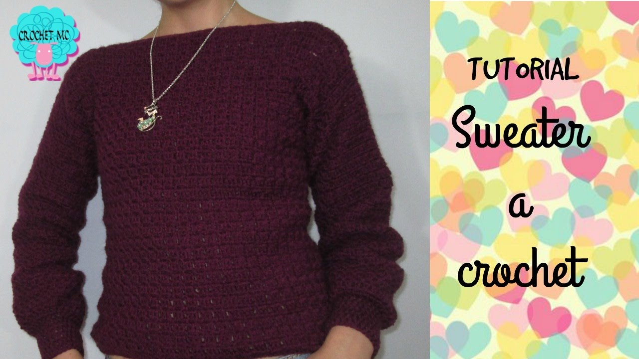 Tutorial Sweater Saco A Crochet Muy Facil Punto Bloques Youtube