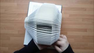 Bookfolding - How to fold a book - step by step  | Vik en bok - steg för steg