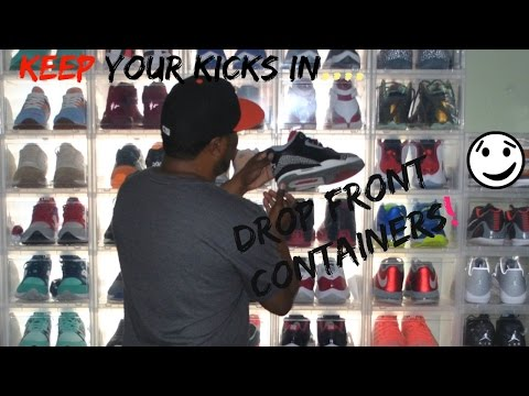 Sneaker Collection | Drop Front Storage Containers