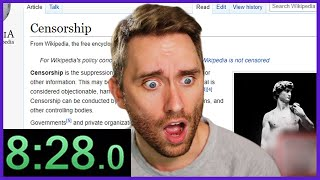 This Wikipedia Speedrun Got Me Banned from Twitch...