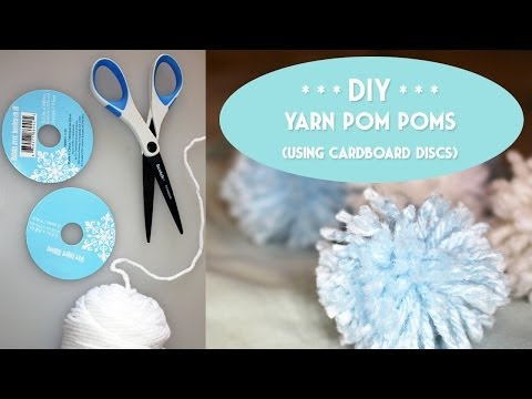 DIY: Yarn Pom Poms (using cardboard discs)