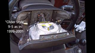 Saab - How to Remove Steering Wheel