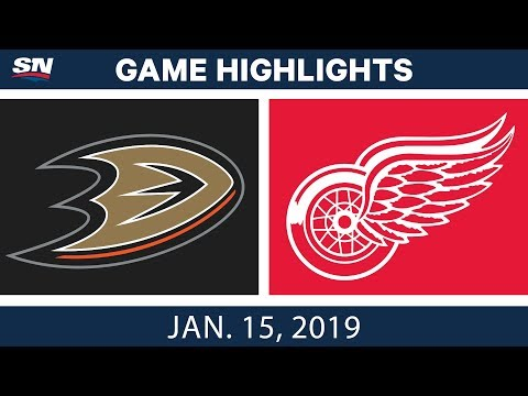 NHL Highlights | Ducks vs. Red Wings - Jan. 15, 2019