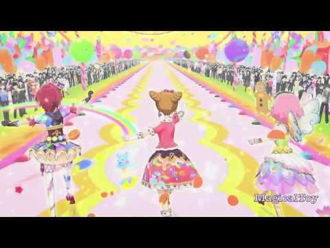 Aikatsu!-Otome Arisugawa & Sakura Kitaōji & Kaede Ichinose- [Ponytail After School]-Episode 60