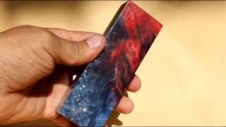 Новые красители для стабилизированной древесины ( голографический эффект )