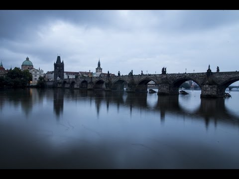 Prague, Czech Republic, night video HD