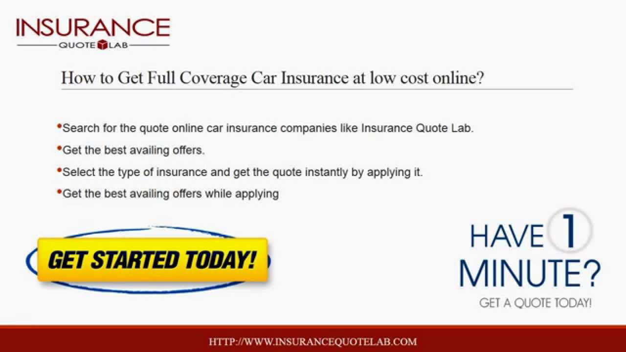 Full Coverage Car Insurance Quotes Online