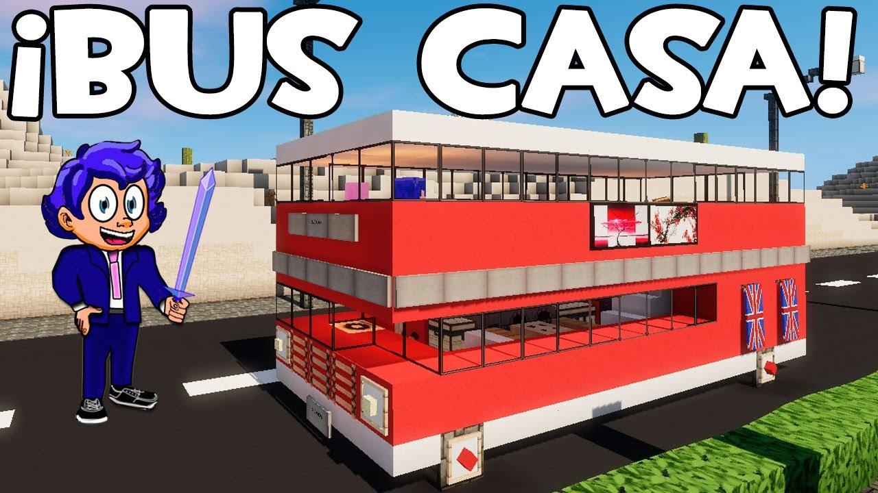 C mo hacer un autobus o bus casa en minecraft de dos for Blancana y mirote minecraft