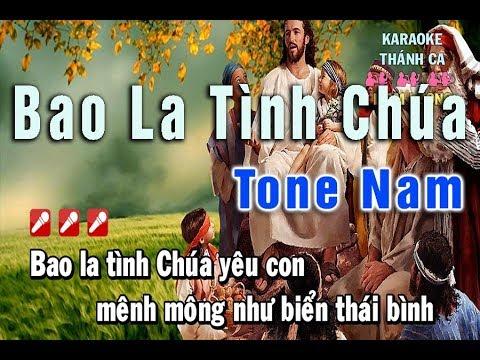 Bao La Tình Chúa Karaoke Tone Nam Nhạc Sống HD 1080   Liam Lương   Nhạc Thánh Ca