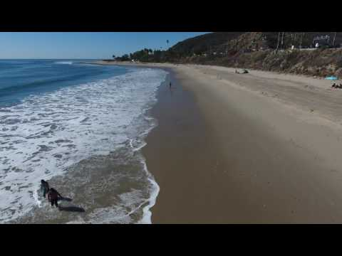 Malibu Beach Drone Aerial Photography