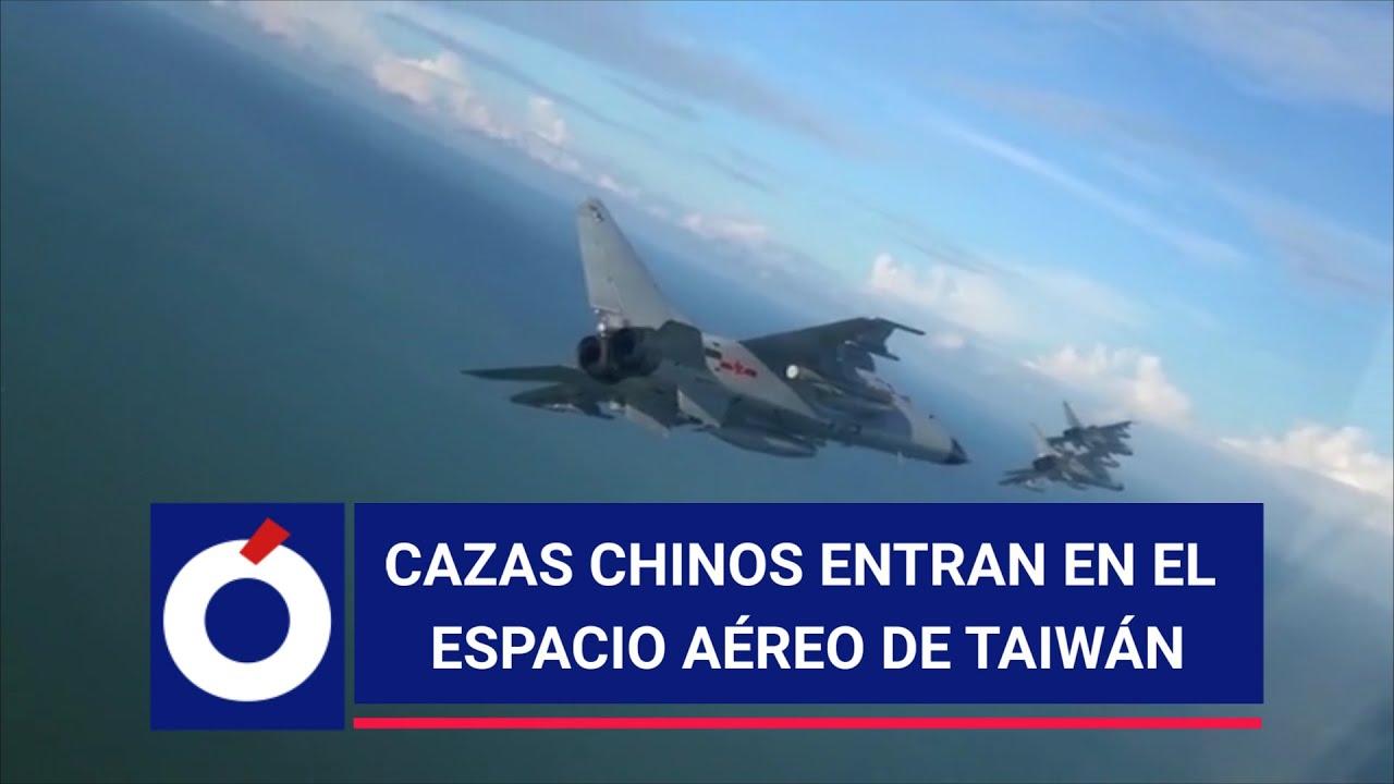 Cazas chinos interceptan aviones de EE UU sobre Taiwán - YouTube