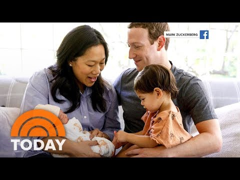 Facebook Founder Mark Zuckerberg And Priscilla Chan Share Family Photo With New Baby   TODAY
