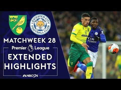 Norwich City v. Leicester City | PREMIER LEAGUE HIGHLIGHTS | 2/28/2020 | NBC Sports
