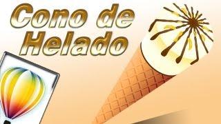 tutorial corel draw - como crear un cono de helado con corel draw